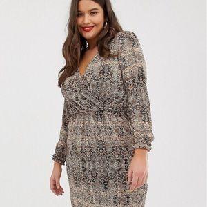 Snakeskin wrap dress